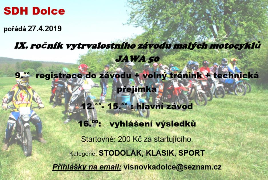IX. ročník vytrvalostního závodu malých motocyklů JAWA 50 1